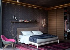 dressing-petite-chambre-dressing-bois-brun-porte-coulissante dressing pour petite chambre