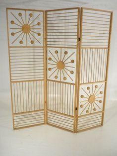 HUGE Atomic Modernist Folding Screen/Room Divider Mid Century Modern #MidCenturyModern