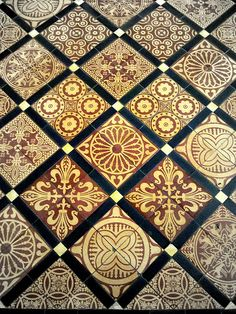 Encaustic Floor tile in the Quire, via Flickr.