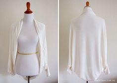 Cocoon Cardigan – Free Sewing Pattern & Tutorial Video.  sewinlove.com.au