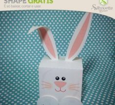 dc9c4329db76b FREE» Shape 53  Caixinha de Coelhinho - Silhouette Brasil bunny easter box  favour party gift decoration