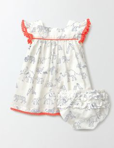 Ivory Sotry Book Pretty Floaty Dress from Boden