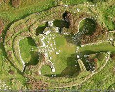 CHYSAUSTER: great aerial view of one of the Courtyard House dwellings.