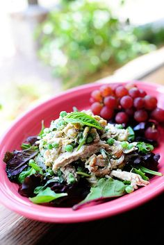 Lemon Basil Chicken Salad. I'm on a lemon basil kick right now!