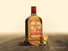 Flaming Pig - Spiced Irish Whiskey • Cream Version • #ProductPhotography #RichmondMarketing #AirborneCreative #Whiskey Whiskey Cream, Irish Whiskey, Whiskey Bottle, Yum Yum, Spices, Gadgets, Drinks, Creative, Projects