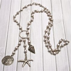 HB Baby Sterling Silver and Freshwater Pearl Lariat by RustyRoxx