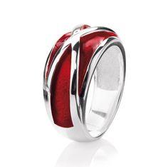My only One, Ring mit Brandlack aus Silber. von: heartbreaker #Schmuck #Ring