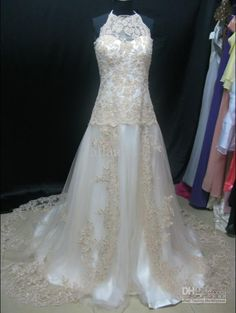Wholesale 2012 New Sexy A-line Sweetheart Floor Length Chapel Train Lace Satin Bead Wedding Dress MG490, Free shipping, $140.83-161.29/Piece | DHgate