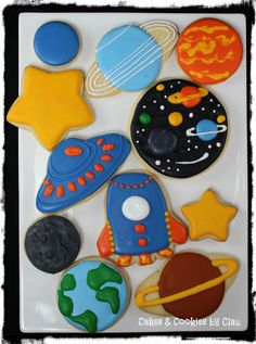 Solar System & Space Themed Sugar Cookies