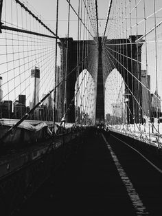 The architectural intricacies and genius of the Brooklyn Bridge are mind blowing. $15, Elementem Photography, 16x16 inches, canvas, photography by @lmjoee. Black and white, BW, cityscape, bridge, NYC, New York, New York City, Brooklyn
