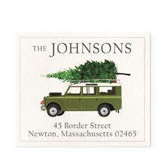 For Christmas - Return Address Labels | Stationery