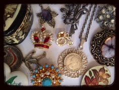 Jewellery selection Brooches. Pendants. https://www.facebook.com/pages/The-Jewellery-Cloud/160517894095561