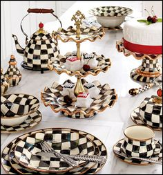 One of these things is not quite like the others... because it's edible!    We love MacKenzie-Childs. Their designs are so charming and whimsical. We especially adore the iconic Courtly Check pattern. The dishes, cups, and kettles make us want to host an Alice-inspired tea party...    So when we spo