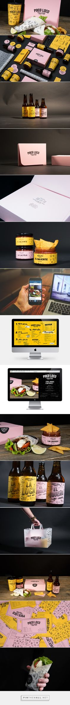 Poco Loco — The Dieline - Branding. Urban Mexican street food in Sweden, of all places. Teddy Saxfors, Marie Stridh, and Filip Sjöholm developed a new identity for their products as well