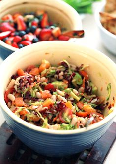 Chopped Vegetable Salad with Lemon-Garlic Dressing Recipe | Mouth ...