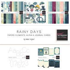 Rainy Days Bundle by Melo Vrijhof | Pixel Scrapper digital scrapbooking
