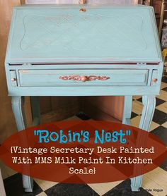 miss mustard seed roll top desk | ... Desk Painted With Miss Mustard See Milk Paint In Kitchen Scale COLOR