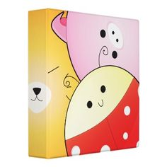 cute round animals notebook 3 ring binders