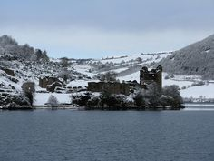Wintry Urquhart Castle last year - it's very pretty :) #travel #castles #history