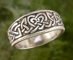 """Ceol mo Chridhe """"Music of My Heart"""" Sterling Silver Celtic Ring /// Walker Meltalsmiths Celtic Jewelry Silver Bridal Jewellery, Pearl Earrings Wedding, Wedding Jewelry Sets, Bridesmaid Earrings, Bridal Earrings, Crystal Earrings, Jewellery Rings, Celtic Engagement Rings, Celtic Wedding Rings"""