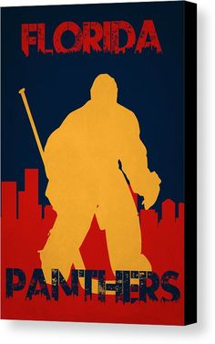 Panthers Canvas Print featuring the photograph Florida Panthers by Joe Hamilton
