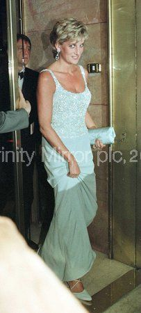 June 19, 1996: Diana attends a charity gala dinner and a fashion show at the French Embassy in Rome, Italy, in aid of the European Cancer Research Centre.
