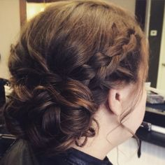 Braided Wedding Hair Updo Upstyle Side bun braid braids