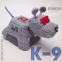 Doctor Who K-9 Amigurumi Crochet Pattern (5.00 USD) by craftyiscoolcrochet