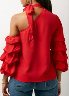Stylish Tops For Girls, Trendy Tops, Trendy Fashion Tops, Trendy Tops For Women Hijab Fashion, Girl Fashion, Fashion Outfits, Tie Neck Blouse, Ruffle Blouse, Corsage, Corporate Wear, Trendy Tops For Women, Girls Blouse