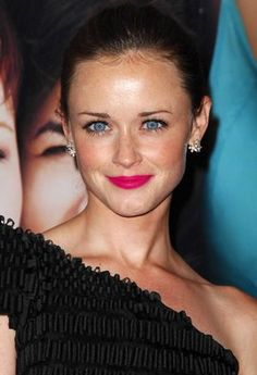 Cutie Alexis Bledel rocking a hot pink lip. Try MAC Girl about town!