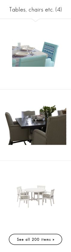 """""""Tables, chairs etc. (4)"""" by asia-12 ❤ liked on Polyvore featuring home, furniture, dining sets, tables, dining table, kitchen, dining tables, dining, floral furniture and table"""