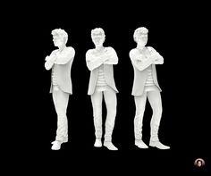 Millennial Man, 3D Model, 3D Sculpting