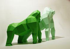 Gorillas by PaperwolfsShop