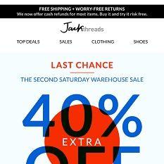 It's Almost Gone...Bye Bye Warehouse Deals Jack Threads, Shoe Last, Love You Mom, Bye Bye, Warehouse, Day, Amazing, I Love You Mom, Magazine