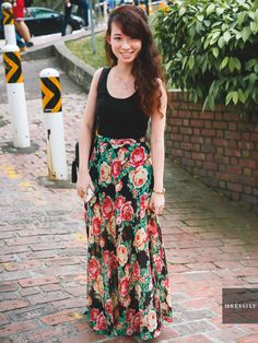 Rockin' the midi skirt in neutral shades and prints? Awesome! #nus ...