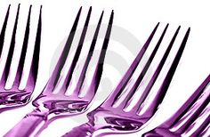 Purple Forks...lol that's a bit much but so shiny....