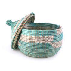 Woven Turquoise Basket