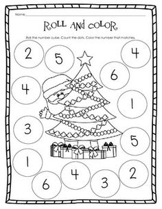 math worksheet : fun and festive christmas math worksheets  christmas math  : Christmas Kindergarten Math Worksheets