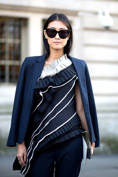 Always keep a blazer on hand.   - HarpersBAZAAR.com