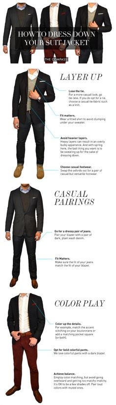 How to dress down your suit jacket.