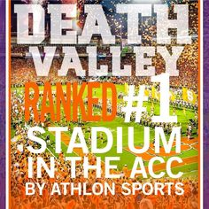 I'm sorry Clemson, you seem confused. You are not the #1 Tigers or the #1 Death Valley. Please sit down. http://collegefootball.blog.ajc.com/2014/07/07/lsus-tiger-stadium-is-the-best-in-country-media-say/?ecmp=ajc_social_facebook_2014_sfp