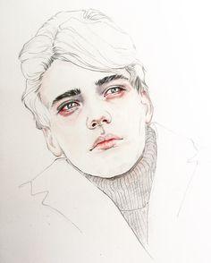 Rcbynn WatercolorIllustration   Of Billy van den Dooren    #watercolorportrait #watercolor #winsorandnewton #watercolorart #watercolorillustration #moleskineart #rcbynn