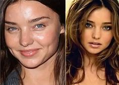 Celebs Without Makeup 98507 Angel Miranda Kerr appeared bare-faced to a red carpet event. Her skin is famously smooth, even without makeup. Models Without Makeup, Actress Without Makeup, Photoshop, Miranda Kerr Makeup, Modelos Victoria Secret, Makeup Before And After, Celebrities Before And After, Bare Face, Model Face