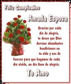 Feliz cumpleaños mi amor. que Dios te bendiga siempre, te amo mucho, un beso con amor.