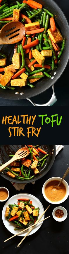 EASY, HEALTHY 9 Ingredient Tofu Stir Fry with TONS of veggies. #vegan #glutenfree