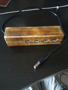 I made a usb hub case out of wood