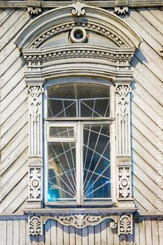 Резной наличник Челябинска №4 Wooden Window Frames, Wooden Windows, Windows And Doors, Wooden Architecture, Russian Architecture, Window Shutters, Window Trims, Wood Carving Art, Through The Window