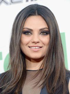 August cover girl Mila Kunis always has the perfect smokey eye makeup.