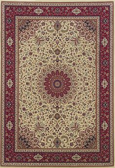 A fabulous traditional designed rug with Old World styling and color palette makes this rug the perfect accent for your more traditional or transitional decor. I Shop Rug & Home I #traditional #red #medallion