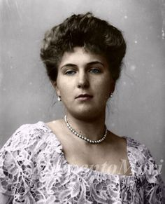 Victoria Eugenia de Battenberg, granddaughter of Queen Victoria, wife of King Alfonso XIII and Queen consort of Spain from 1906 to 1931.